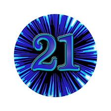"Cool 21st Birthday 3.5"" Button"