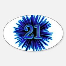 Cool 21st Birthday Oval Decal