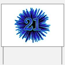 Cool 21st Birthday Yard Sign