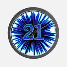 Cool 21st Birthday Wall Clock