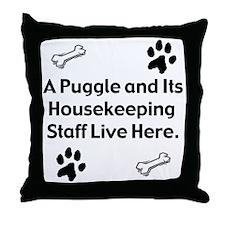 Puggle 2 Throw Pillow