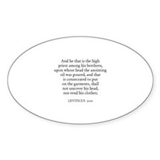 LEVITICUS 21:10 Oval Decal