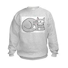Gray/White ASL Kitty Sweatshirt