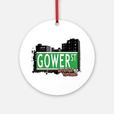 GOWER STREET, STATEN ISLAND, NYC Ornament (Round)