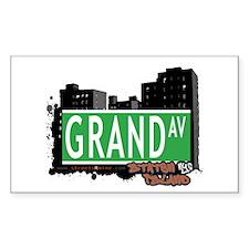 GRAND AVENUE, STATEN ISLAND, NYC Decal