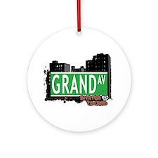 GRAND AVENUE, STATEN ISLAND, NYC Ornament (Round)