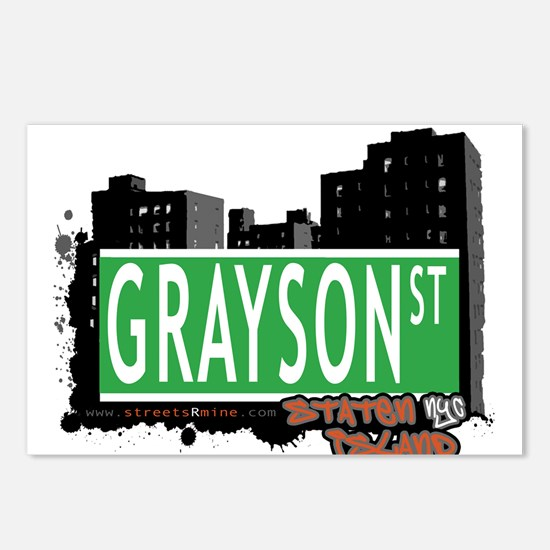 GRAYSON STREET, STATEN ISLAND, NYC Postcards (Pack