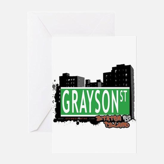 GRAYSON STREET, STATEN ISLAND, NYC Greeting Card