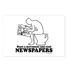 Read Newspapers, start a movement ~  Postcards (Pa