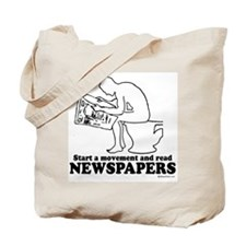 Read Newspapers, start a movement ~  Tote Bag
