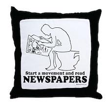 Read Newspapers, start a movement ~  Throw Pillow