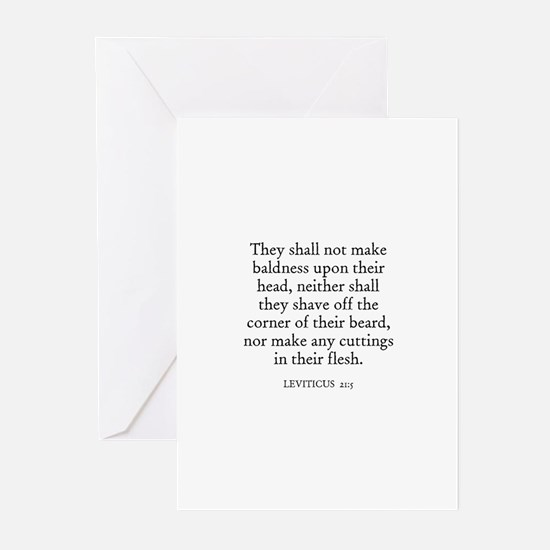 LEVITICUS  21:5 Greeting Cards (Pk of 10)