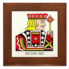 One Eyed Jack Framed Tile