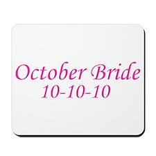 October Bride 10-10-10 Mousepad