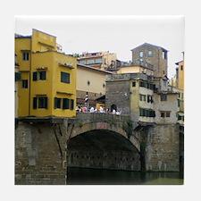 Funny Ponte vecchio Tile Coaster