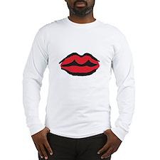 Kissable Red Lips, Long Sleeve T-Shirt