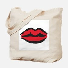 Kissable Red Lips, Tote Bag