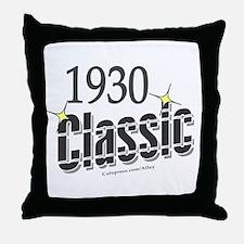 1930 Classic Throw Pillow