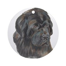 Newfie Portrait Ornament (Round)