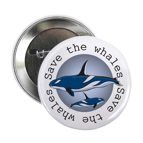 """Save the whales v2 2.25"""" Button (10 pack)"""