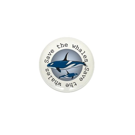 Save the whales v2 Mini Button