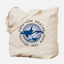 Save the whales v2 Tote Bag