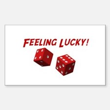 Feeling Lucky Rectangle Decal