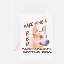 Make Mine A Red Greeting Cards (pk Of 10)
