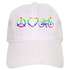 Baseball Cap Peace, Love & Cycling