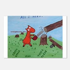 Unique Lumberjack Postcards (Package of 8)
