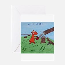 Cute Lumberjack Greeting Card