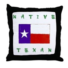 Native Texan Throw Pillow