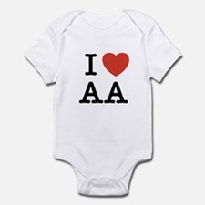 "I Heart All Things ""A"" Infant Bodysuit"