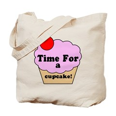 Time For A Cupcake Tote Bag