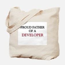 Proud Father Of A DEVELOPER Tote Bag