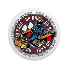 Go Kart Racing Ornament (Round)