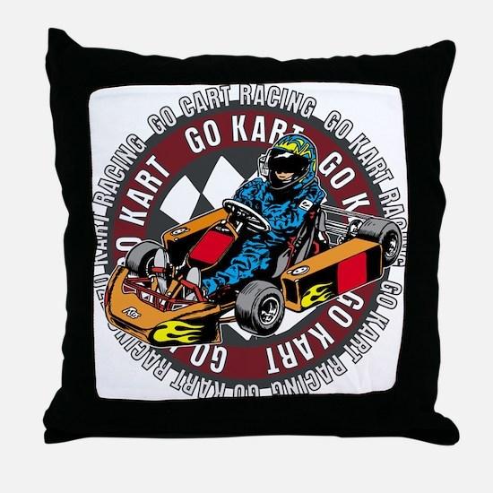 Go Kart Racing Throw Pillow