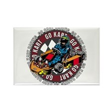 Go Kart Racing Rectangle Magnet