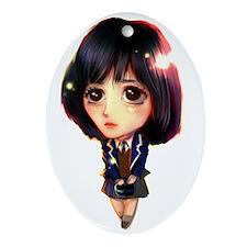"""Koo Hye Sun"" Oval Ornament"