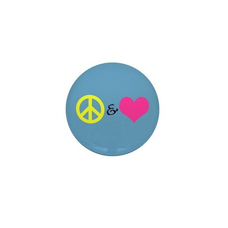 Peace & Love Mini Button