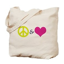 Peace & Love Tote Bag