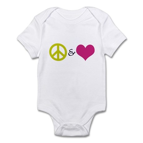 Peace & Love Infant Bodysuit