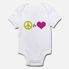Peace & Love Infant Bodysuit