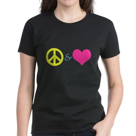 Peace & Love Women's Dark T-Shirt