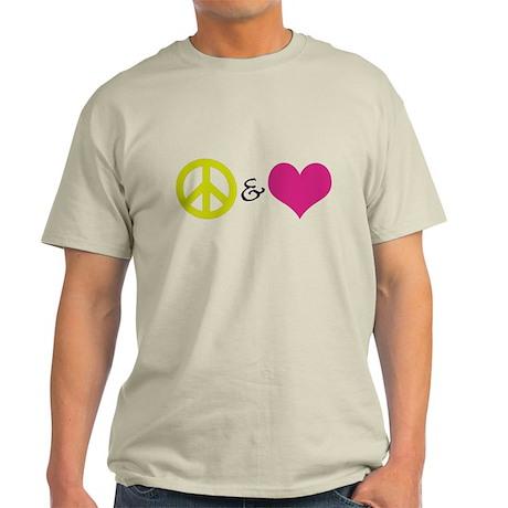 Peace & Love Light T-Shirt