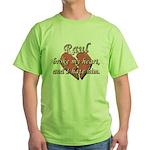 Raul broke my heart and I hate him Green T-Shirt