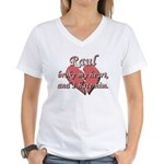 Raul broke my heart and I hate him Women's V-Neck