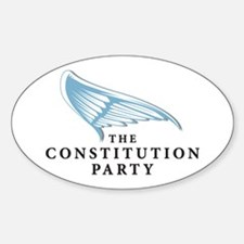 Constution Party Oval Decal