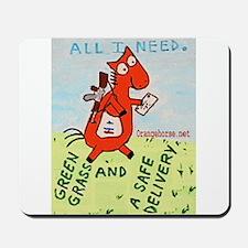 Horse Mailman Mousepad
