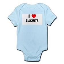 I LOVE BISCUITS Infant Creeper